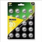 'GP 8716778919841CR2032Pilas de Litio Pilas de botón 3V, 20Unidades de Marca Ware, 2x 2x 0,3cm