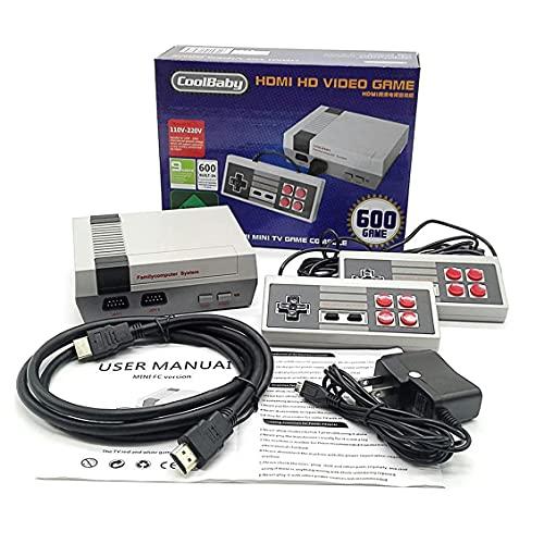 weiyoutong Plug & Play Familiari Mini Edition Classic Console di Gioco con 600 Videogioco TV Cavo di Uscita HDMI