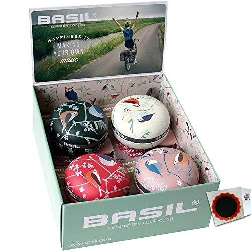 Basil Ding-Dong Glocke Wanderlust D: 80mm 1 Karton a 4 Stück Fahrrad + Flicken
