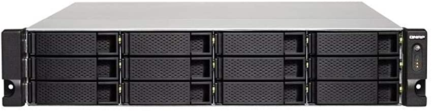 QNAP TS-1232XU-4G-US 2U 12-Bay ARM-Based 10G NAS, Quad Core 1.7GHz, 4GB DDR3 RAM, 2 x 10GbE SFP+, 2 x GbE, Single Power Su...