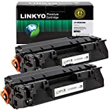 LINKYO Compatible Toner Cartridge Replacement for HP 05A CE505A (Black, 2-Pack)