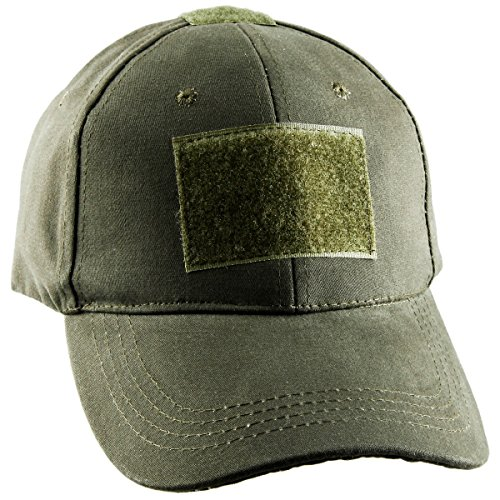 squargarden Operator Tactical Cap CAMO Baseball Caps Hüte mit Tactical USA Flagge Patches, armee-grün