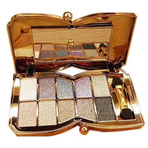 TOOGOO(R)Diamant brillant colore fard a paupieres super kit de maquillage Flash Palette de Fard a paupieres avec une brosse (3#)