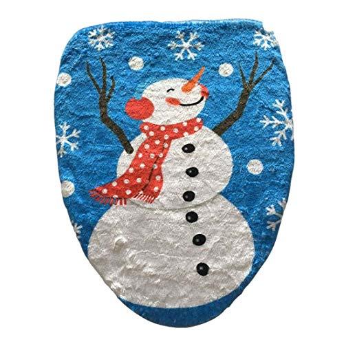 NLRHH Fancy Weihnachten auf Hut Schneemann WC Deckeldeckel, Größe: 48 x 43cm DIY (Farbe: color2) Peng (Color : Color2)