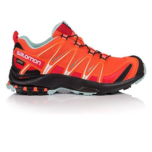 Salomon XA PRO 3D GTX W, Scarpe da Trail Running Donna, Arancione (Nasturtium/Black/Canal Blue 000), 38 2/3 EU