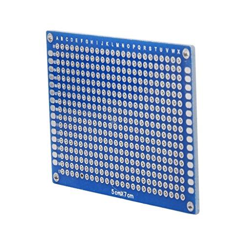 10x Doble Cara Prototipo PCB Panel Fibra De Vidrio Universal DIY 5x7cm Prototype