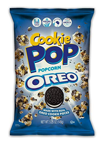 Cookie Pop Popcorn, Oreo, made with real Oreo Cookie Pieces, 12 5.25oz bags