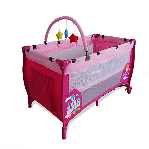 Asalvo Complet Duo - Cuna de viaje plegable con bolsa de transporte, diseño princesa,...