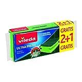 Vileda – Set de 3 salvauñas UltraFresh con tratamiento antibacterias, 3 unidades