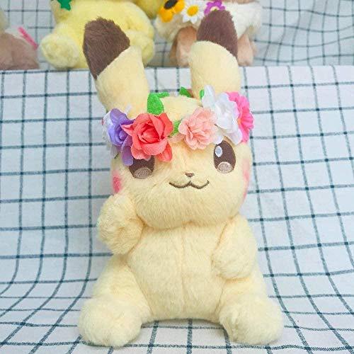 NC88 Muñeca de peluche de 18 cm, juguete bonito anime, con guirnalda Kawaii y relleno, colección de aficiones