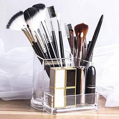 Cynyy Acrylique Transparent Transparent Cosmétique Maquillage Brosse Titulaire Stand Organisateur Lèvre Stand pour Un Usage Quotidien Femmes Accueil-2