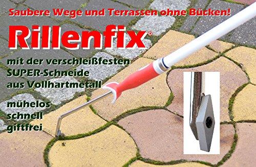 Rillenfix Fugenkratzer Unkrautkratzer + Teleskopstiel