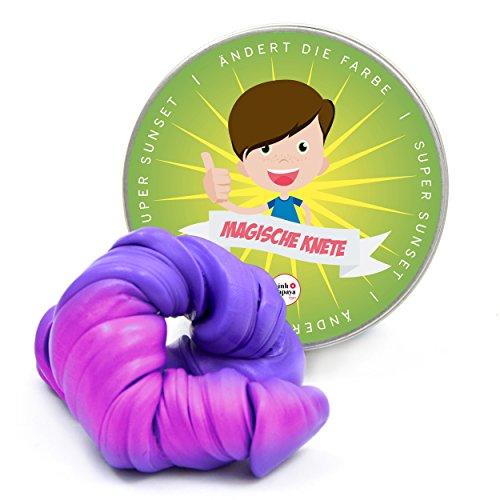 Pink Papaya Magische Knete - Super Sunset - Fidget Knete wechselt die Farbe Pink/Lila, Farbwechsel, das intelligente Knetgummi, BPA Free - in vielen Farben mit verschiedenen Eigenschaften