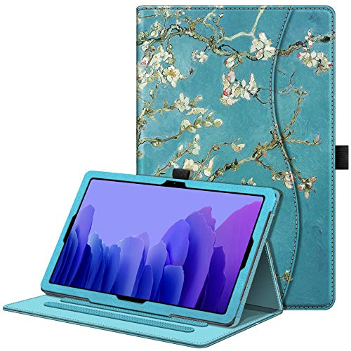 Fintie Case for Samsung Galaxy Tab A7 10.4 2020 Model (SM-T500/T505/T507), Multi-Angle Viewing Smart Stand Back Cover with Pocket, Auto Wake/Sleep, Blossom