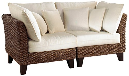 Panama Jack Sunrooms 2 PCPJS-1001-LS Sanibel Loveseat with Cushions, Light Beige