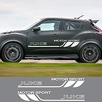 2個レーシングカードアサイドステッカー日産ジューク用スポーツグラフィックビニールフィルム車体装飾ラップPVCデカールカーアクセサリー