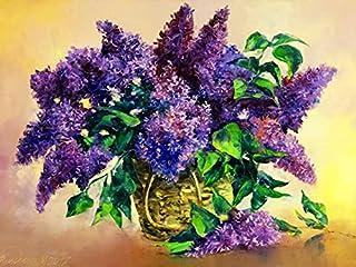 Diamant schilderij lavendel 5D DIY diamant borduurwerk vaas volledige vierkante ronde bloem kruissteek strass foto A12 50x...