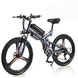 Hyuhome Vélo Électrique pour Adultes Hommes Femmes,26' Vélo Pliant 250W / 350W 36V 10A 18650 Batterie Lithium-ION Pliable Mountain E-Bike avec Shimano 21 Vitesses Facile À Plier (Gray, 350w)