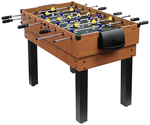 Carromco Jugendliche, Kinder, Erwachsene Multifunktionstischfussball Multigame Choice-XT 10-in-1 inklusive Billardkugeln, 2 Queues, 2 Kickerbälle Tischspiele, Multifunktionstisch, Braun, 127x61x82cm