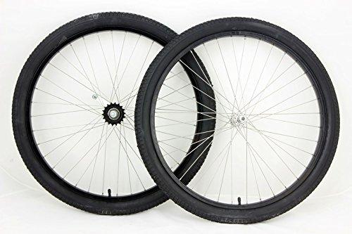 MANGO 26 inch Coaster Brake Wheel Set Beach Cruiser Bike Bicycle with Tires and Tubes! (Black)