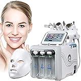 MXCYSJX Máquina Facial De Hidrógeno Y Oxígeno, 7 En 1, Multifuncional, Limpieza Facial Al Vacío,...