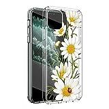 ZhuoFan Funda para Samsung Galaxy A12 Transparente Cárcasa Silicona con Dibujos Diseño Suave TPU Antigolpes de Protector Ultra Fina Piel Case Cover para Samsung A12 6,5', Flor