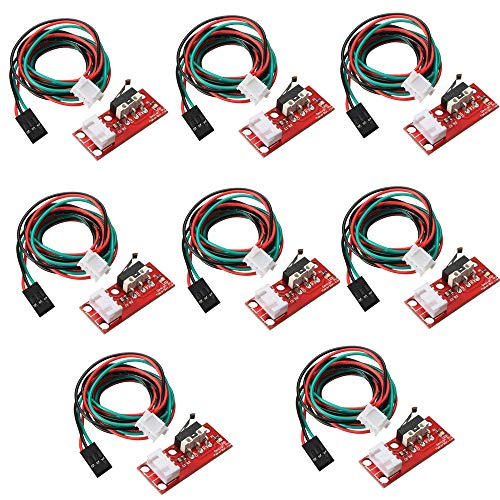 8 Pieces 3D Printer Accessories Limiter Limit Switch With LED Indicator And Wire Mechanical Limit Switch Module Optical Stop Switch For 3D Printer RAMPS 1.4
