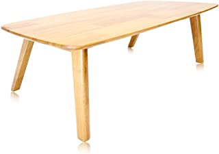 Krei Hejmo Solid Wood Coffee Tea Sofa Side Table (102-Rectangular, Vintage Brown)