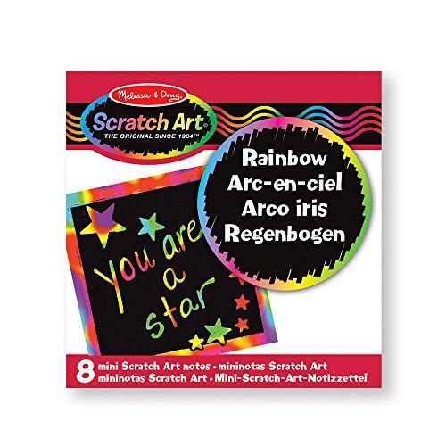 RAINBOW MINI SCRATCH ART NOTES,