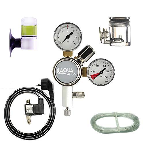 OCOPRO CO2-Anlage Aquarium OHNE Flasche DLX-350 Plus mit Nachtabschaltung und Dauertest/Langzeittest