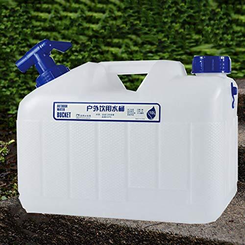 Stasy Recipiente De Agua Portátil con Manguera De Espita para Acampar, Portador De Agua Portátil De Grado Alimenticio para Envío, Transporte De Residuos De Agua(Size:10L)