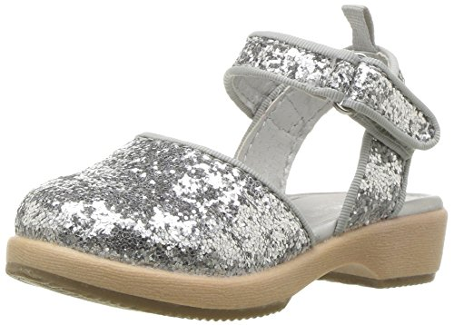 Oshkosh B'Gosh  Girls' Posh Glitter Clog, Silver, 8 M US Toddler