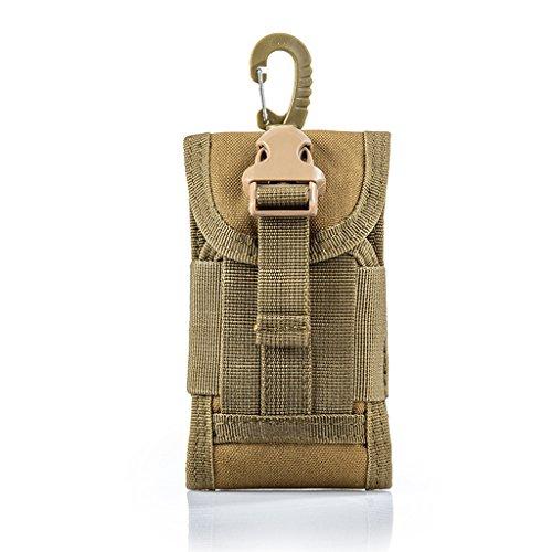 sohodoo EDC Tactical Militar Molle bolsa de teléfono cintura clip en la funda con clip para cinturón 600D Nylon Touch Duty para 6 pulgadas (Camo-02)
