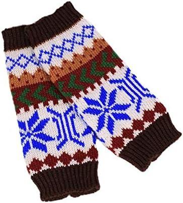 Fashion Knitted Arm Fingerless Winter Gloves Unisex Soft Warm Mitten Hand Gloves guantes eldiven handschoenen 40FE18 - (Color: B, Gloves Size: One Size)
