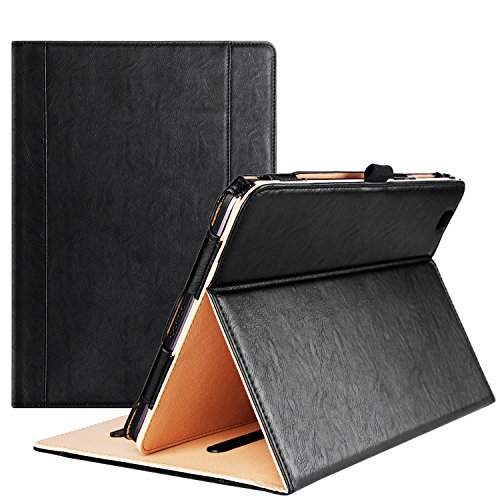 LG G Pad II 10.1 Hülle X Hülle - ProHülle Leder Stand Folio Cover für 2 & (V940N V930), mit mehreren Betrachtungswinkeln, Dokumentenkartenfach schwarz for