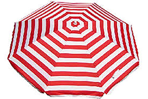 Banz Noosa UV Beach Umbrella, NOOSAR, Red and White, Red & White Stripe, 180cms