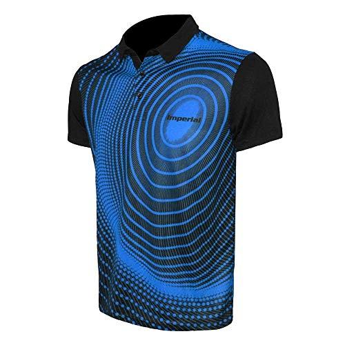 Imperial Shirt F-7 (blau - XXL) | - Funktionsfaser Tischtennis Shirt | Tischtennis Trikot | Tischtennis Hemd | TT-Spezial - Schütt Tischtennis