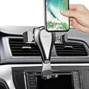 licheers Car Phone Holder Air Vent Phone Mount Stand compatible with iPhone X/8/7/7P/6s/6P/5S, Galaxy S5/S6/S7/S8