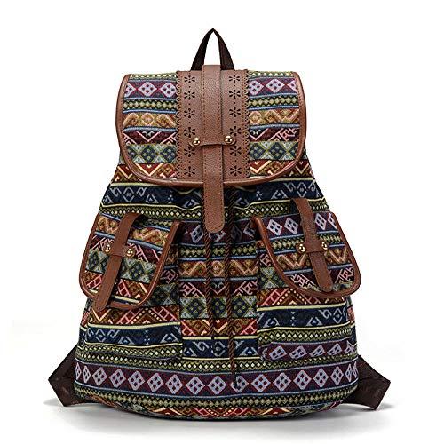 Lässige Tagesrucksäcke Schultasche Vintage Frauen Männer Rucksack Kordelzug Druck Leinwand Bagpack Sac A Dos Femme Rucksack Weiblich-1