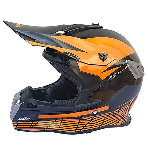 HZIH Casco de Motocross Moto,Adultos Casco de Cross,Casco Off Road MTB Casco Quad Bike ATV Go-Kart-Casco,ECE Homologad I,S=54~55cm