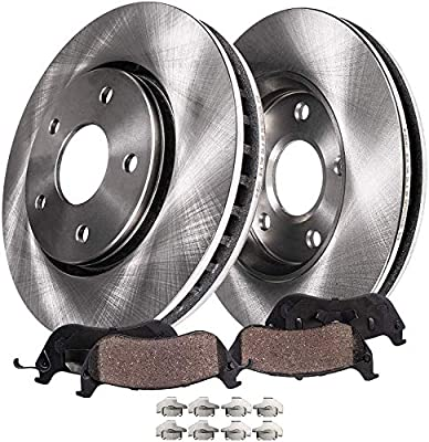 Detroit Axle - Front Disc Replacement Brake Rotors Ceramic Pads w/Hardware for 2002 2003 2004 2005 Ford Explorer 4-Door ONLY/Mercury Mountaineer
