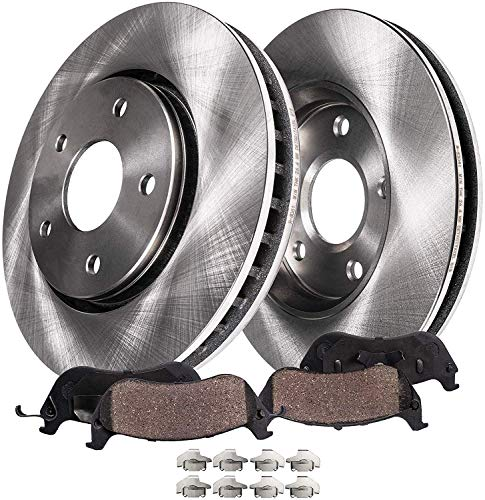 Detroit Axle - 295mm Front Disc Replacement Brake Rotors Ceramic Pads Hardware Replacement for 2011 2012 2013 2014 200-2007 - 2010 Sebring - 2008-2014 Dodge Avenger - 2007-2012 Caliber 4 Wheel Disc