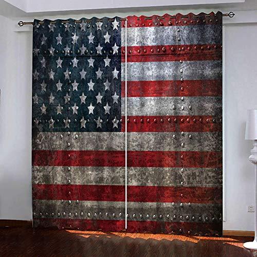 ZLQBed Vorhang Blickdicht Nostalgie Nationalflagge Gardinen mit Ösen Thermo Vorhänge Verdunklungsgardinen für Schlafzimmer Wohnzimmer Kinderzimmer 2 Stücke 280x250cm
