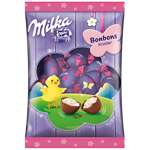 Milka - Bonbons Knister Schoko-Milchreme Bonbons mit Brausegranulat - 86g