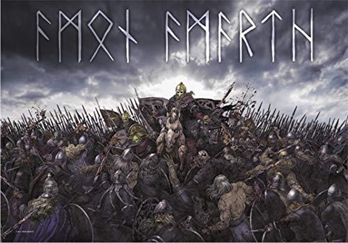 Heart Rock Licensed Bandera Amon Amarth–Battlefield, Tela, Multi