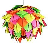 Neon Harlekin, Ø 35cm, bunte Papierlampe Hängelampe Lampe Lampenschirm Pendellampe Designerlampe...