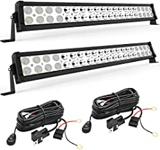YITAMOTOR LED Light Bar 2pcs 24 inches Light Bar Spot Flood Combo Off Road Driving Lights with 2pcs Wiring Harness Compatible for Jeep, Pickup, ATV, Truck, 4x4, 4WD, Trailer, UTV, Boat, 120W LED Bar