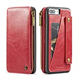 [Size]: Perfect fits for Apple iPhone 7 Plus 2016 iPhone 8 Plus 2017 5.5inch 2017 ,[Three Color]:Adapter include black red brown,Removable design to conveniently answer phone easy for your life, [Multi-function]:Full protection on all 4 corners Shock...