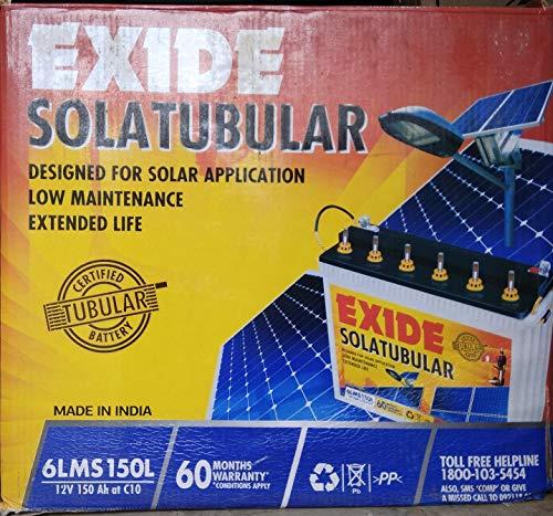 Exide Solar C10 Tubular Battery - 150Ah Inverter Battery