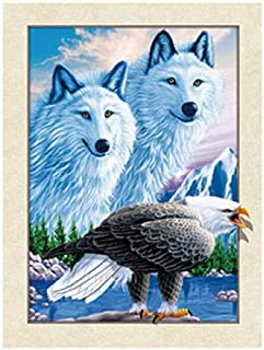 TripStan 3D Home Wall Art Decor Lenticular Pictures, Wolf Collection Holographic Flipping..